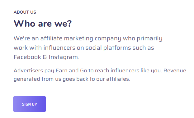 What is Earn And Go?